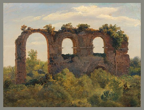 Remains of an Aqueduct late 1820s | Andre Giroux | Oil Painting