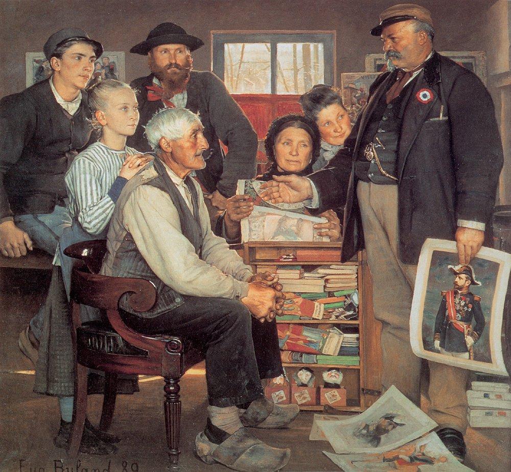 Scene de Propagande | Jean Eugene Buland | Oil Painting