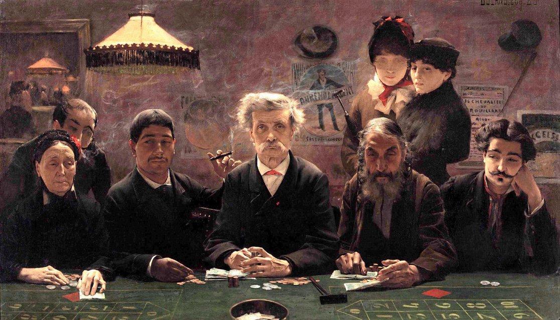 Le Tripot | Jean Eugene Buland | Oil Painting