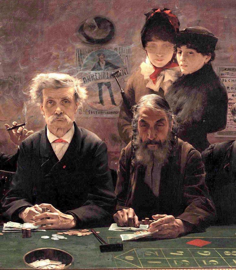Le Tripot dt1 | Jean Eugene Buland | Oil Painting