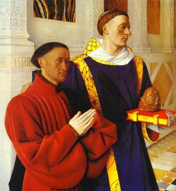 De Moulin Etienne Chevalier Presented By St Stephen 1450 | Jean Fouquet | Oil Painting