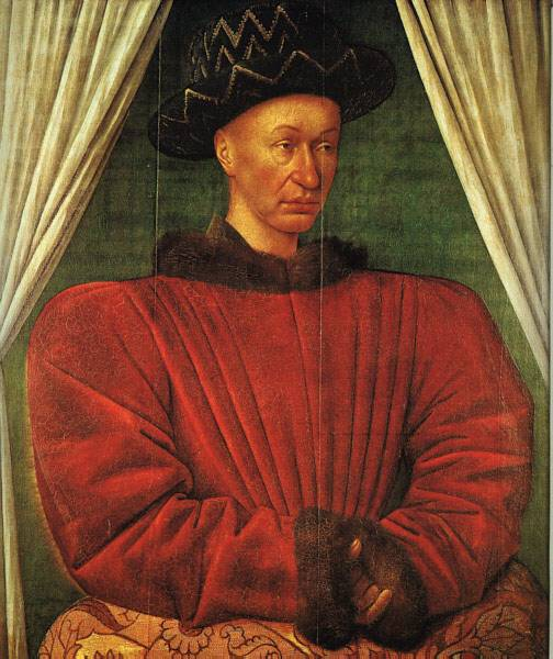 Portrait Of Charles Vii Of France 1445 | Jean Fouquet | Oil Painting
