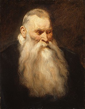 Study Head of an Old Man with a White Beard ca 1617 | Anthony van Dyck | Oil Painting