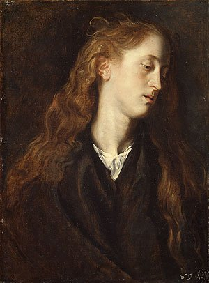 Study Head of a Young Woman possibly 1618 | Anthony van Dyck | Oil Painting