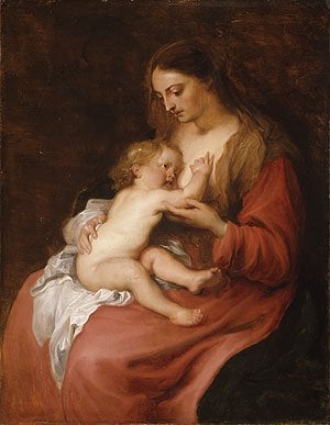 Virgin and Child possibly ca 1620 | Anthony van Dyck | Oil Painting