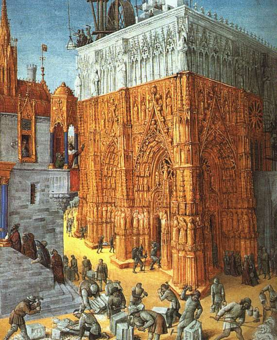 The Building Of A Cathedral | Jean Fouquet | Oil Painting