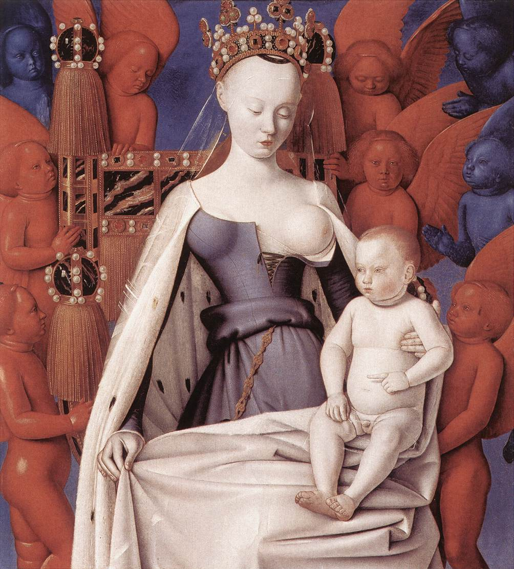 Virgin And Child Surrounded By Angels 1450 | Jean Fouquet | Oil Painting