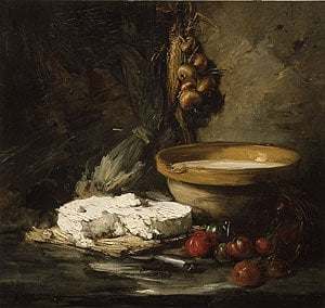 Still Life with Cheese probably late 1870s | Antoine Vollon | Oil Painting