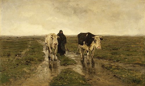 Changing Pasture ca 1880s | Anton Mauve | Oil Painting
