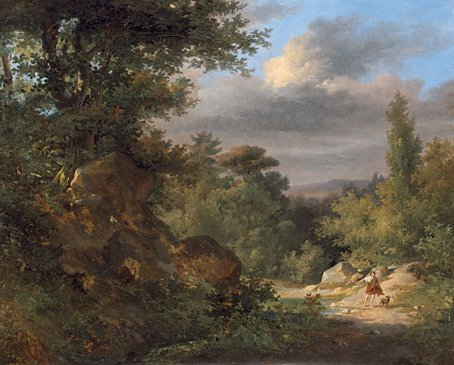 Landscape with a Shepherd 1821 | Achille Etna Michallon | Oil Painting