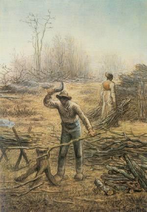 Bucheron Preparant Des Fagots | Jean-Francois Millet | Oil Painting