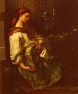 Couseuse Endormie | Jean-Francois Millet | Oil Painting