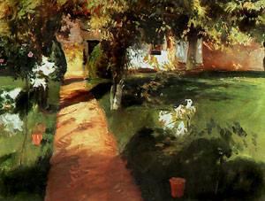 Garden | Jean-Francois Millet | Oil Painting