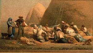 Harvesters Resting Ruth and Boaz | Jean-Francois Millet | Oil Painting