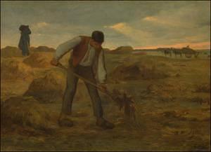 Peasant Spreading Manur | Jean-Francois Millet | Oil Painting