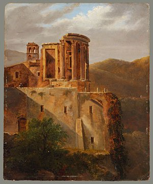 View of the Temple of Vesta at Tivoli | Lancelot Theodore Turpin de Crisse | Oil Painting