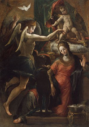 The Annunciation | Parmigianino | Oil Painting