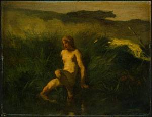 The Bather | Jean-Francois Millet | Oil Painting