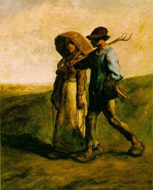 The Walk to Work Le Depart pour le Travail | Jean-Francois Millet | Oil Painting