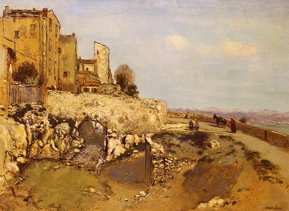 Eze Sur Mer | Jean Francois Raffaelli | Oil Painting