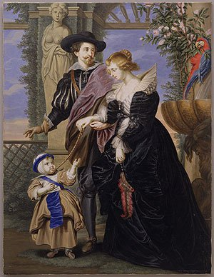 Rubens His Wife Helena Fourment and Their Son Peter Paul | Bernard Lens | Oil Painting