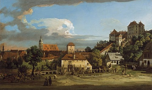 Pirna The Obertor from the South | Bernardo Bellotto | Oil Painting