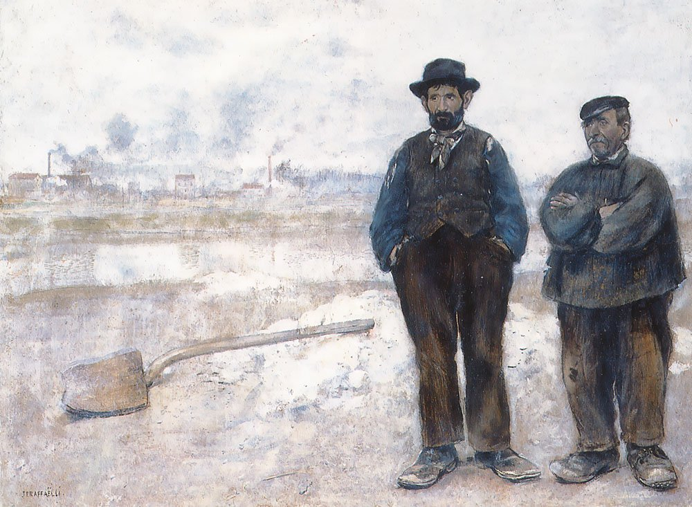 The Two Workmen | Jean Francois Raffaelli | Oil Painting