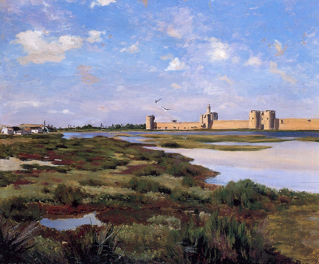Aigues-Mortes 1867 | Jean Frederic Bazille | Oil Painting