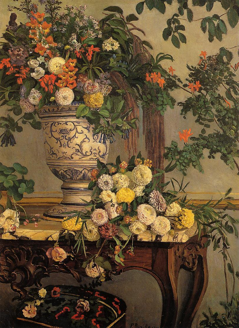 Flowers 1868 | Jean Frederic Bazille | Oil Painting
