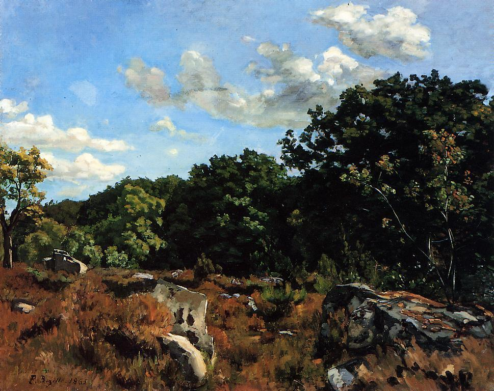 Landscape at Chailly 1865 | Jean Frederic Bazille | Oil Painting