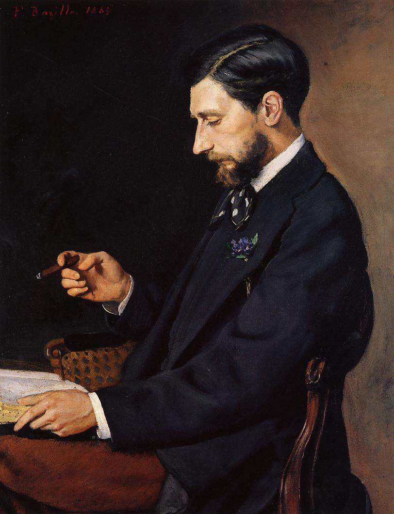 Portrait of Edmond Maitre 1869 | Jean Frederic Bazille | Oil Painting