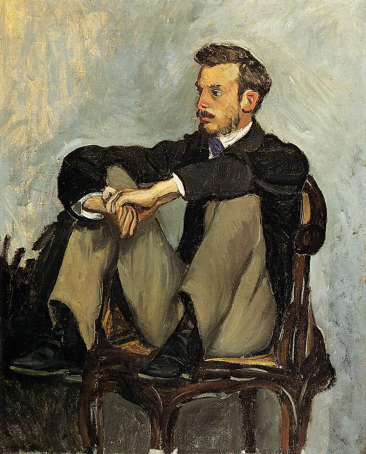 Portrait of Renoir 1867 | Jean Frederic Bazille | Oil Painting