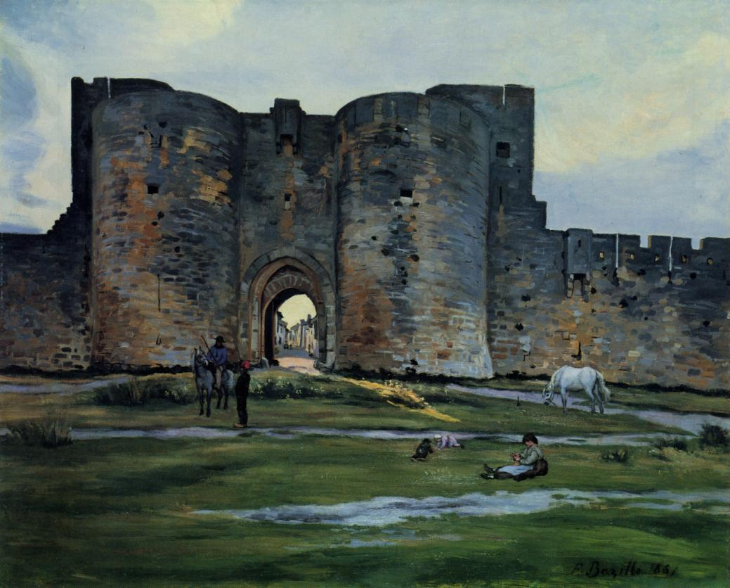 Queens Gate at Aigues-Mortes 1867 | Jean Frederic Bazille | Oil Painting