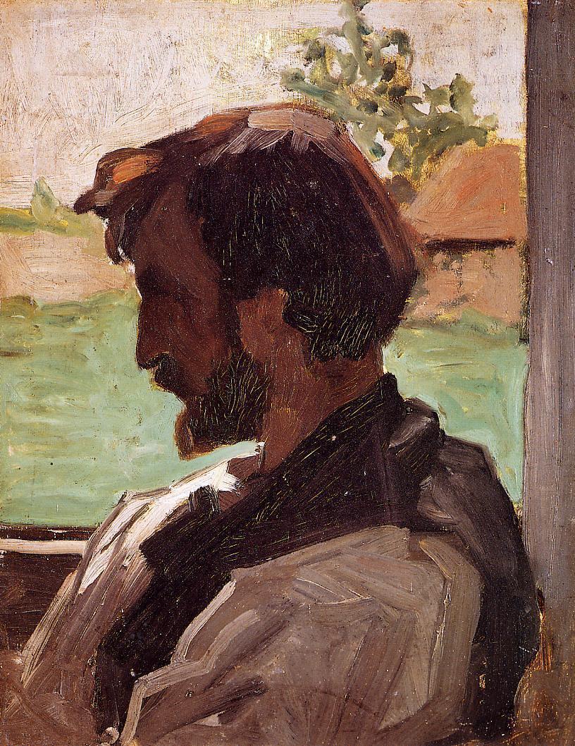 Self Portrait at Saint-Sauveur 1867 | Jean Frederic Bazille | Oil Painting