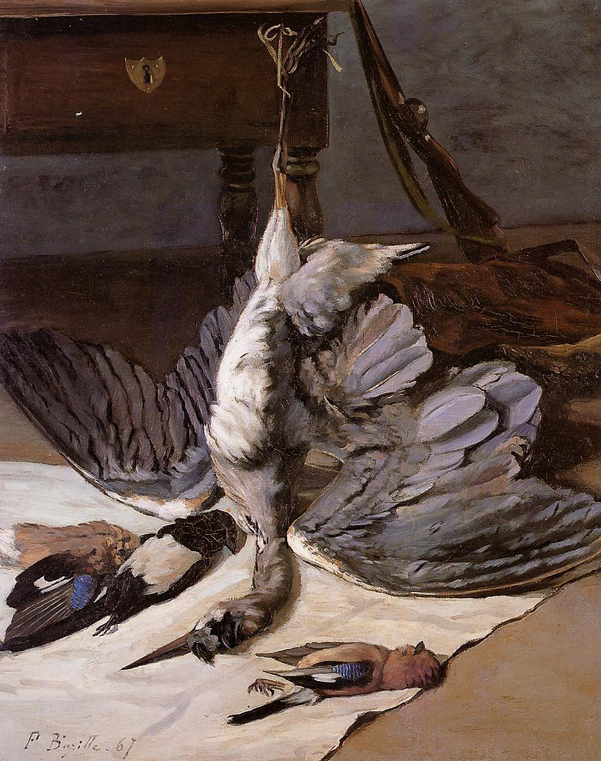 Still Life with Heron 1867 | Jean Frederic Bazille | Oil Painting