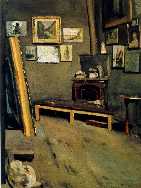 Studio of the Rue Visconti 1867 | Jean Frederic Bazille | Oil Painting
