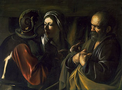 The Denial of Saint Peter | Caravaggio | Oil Painting