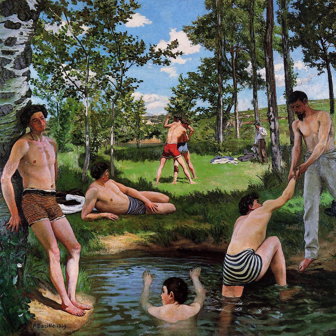 Summer Scene (aka Bathers) 1869 | Jean Frederic Bazille | Oil Painting