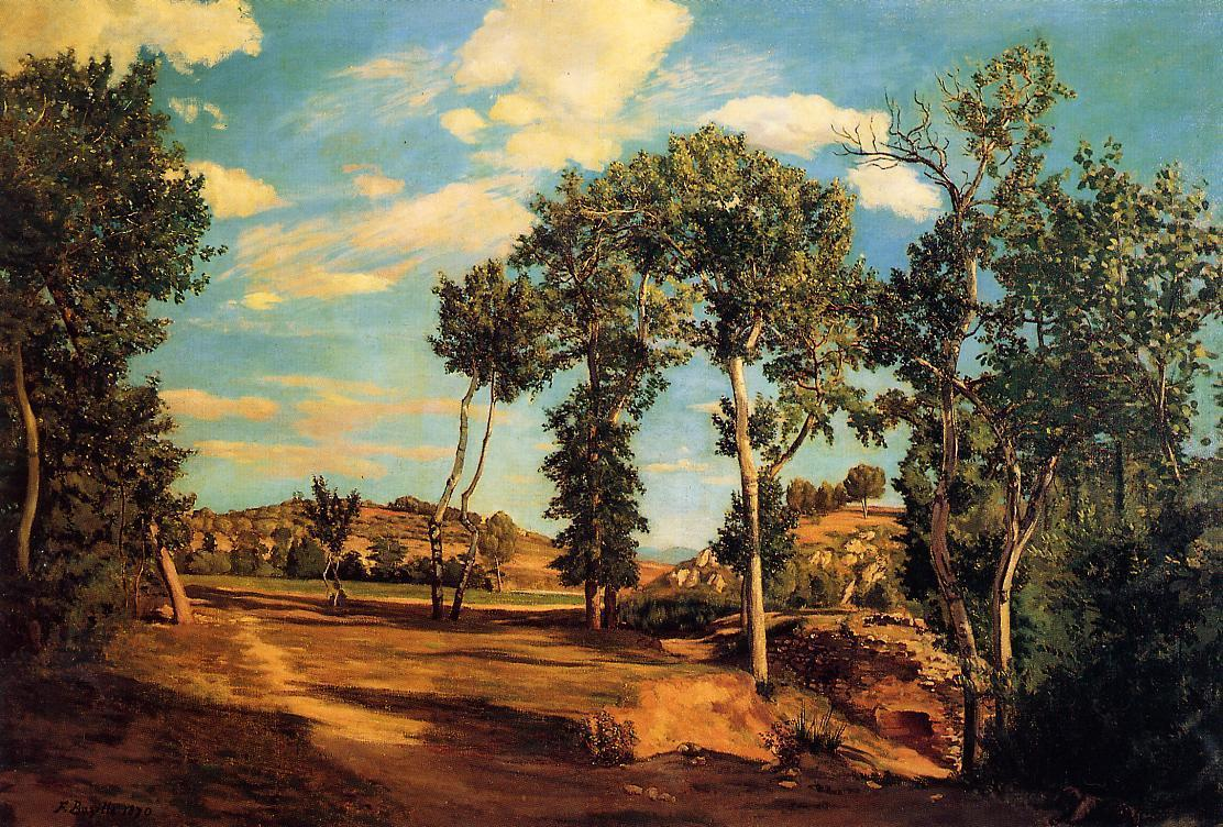 The Banks of the Lez 1870 | Jean Frederic Bazille | Oil Painting