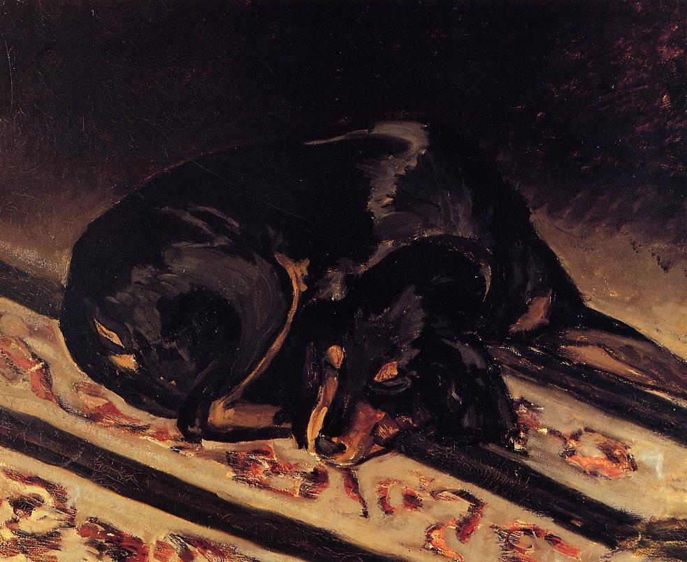 The Dog Rita Asleep | Jean Frederic Bazille | Oil Painting