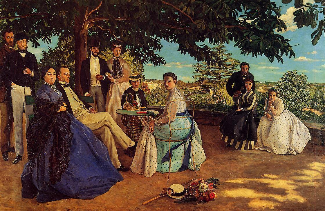 The Family Gathering 1867 | Jean Frederic Bazille | Oil Painting
