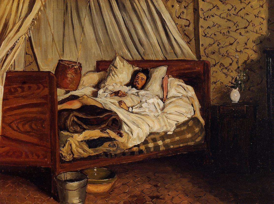 The Improvised Field Hospital (aka Monet after His Accident at the Inn of Chailly) 1865 | Jean Frederic Bazille | Oil Painting