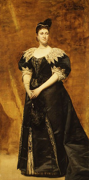 Mrs. William Astor (Caroline Webster Schermerhorn) 1890 | Charles Eile Auguste Carolus Duran | Oil Painting