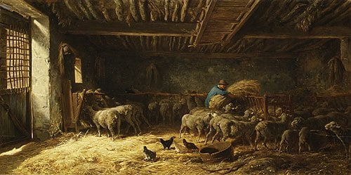 The Sheepfold 1857 | Charles emile Jacque | Oil Painting
