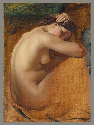 Study of a Female Nude 1840 | Charles Ernest Rodolphe Henri Lehmann | Oil Painting