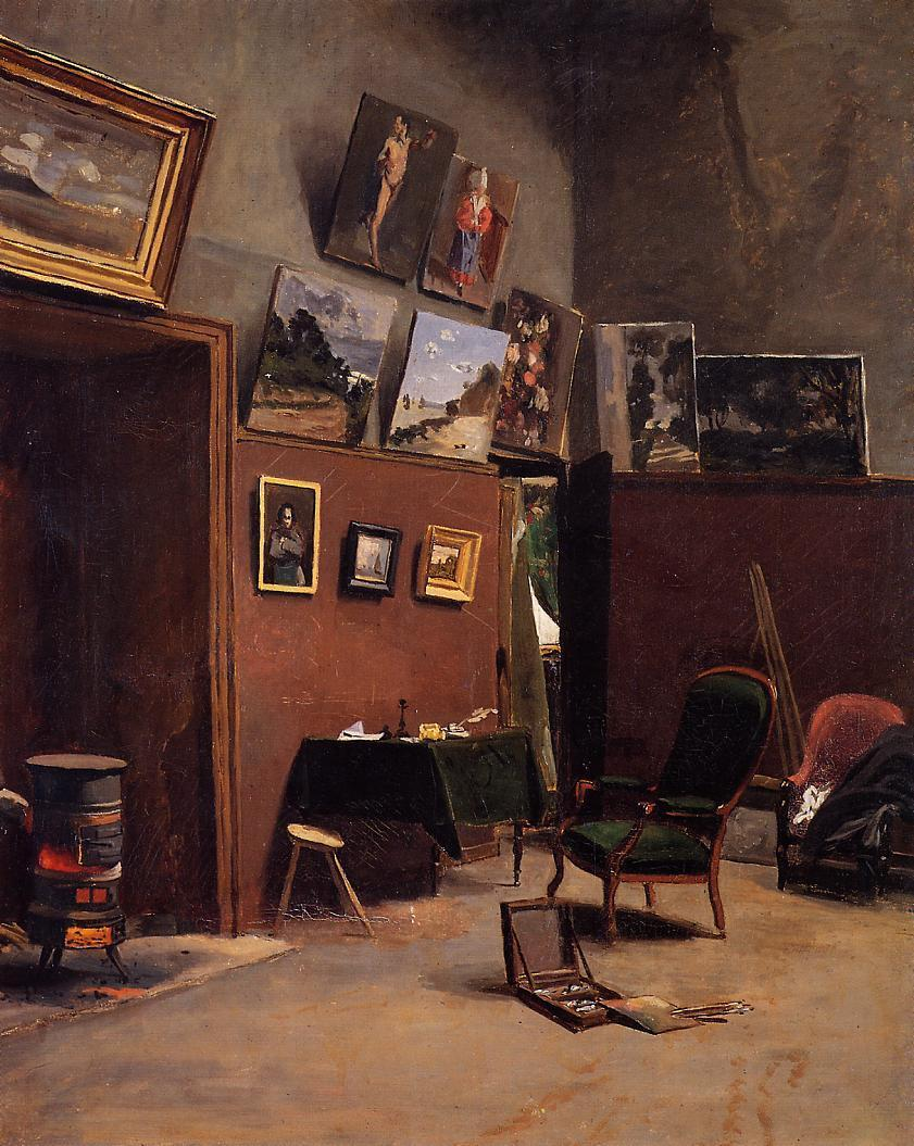 The Studio on the Rue de Furstenberg 1865 | Jean Frederic Bazille | Oil Painting