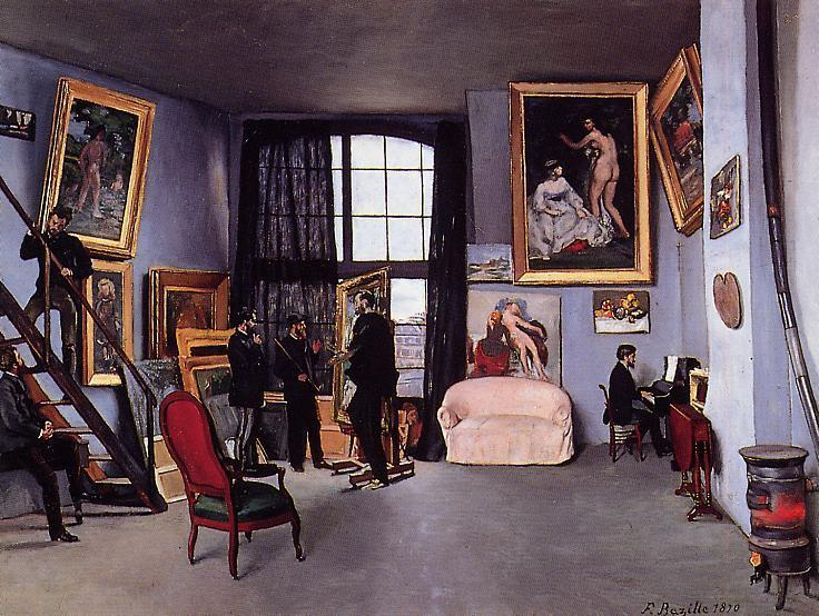 The Studio on the Rue La Condamine 1870 | Jean Frederic Bazille | Oil Painting