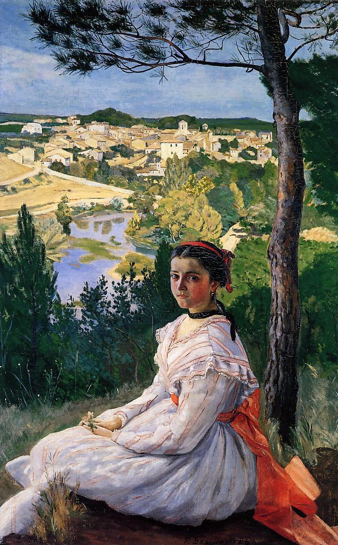 View of the Village 1868 | Jean Frederic Bazille | Oil Painting