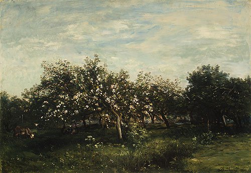 Apple Blossoms 1873 | Charles FranCis Daubigny | Oil Painting