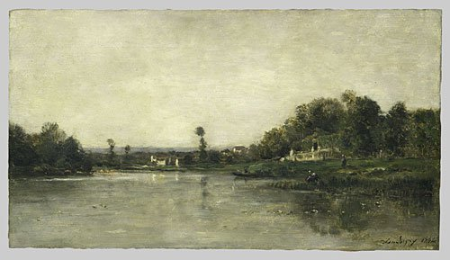 On the Banks of the Oise 1864 | Charles Francis Daubigny | Oil Painting